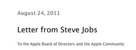 steve jobs resignation letter